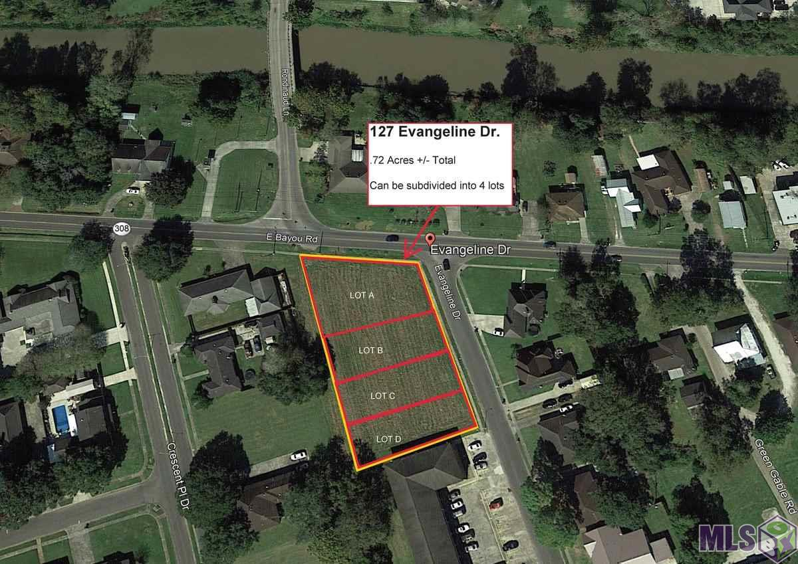 Proposed Lot A Evangeline Dr, Donaldsonville LA 70346